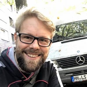 Arne Tensfeldt und Camper Van